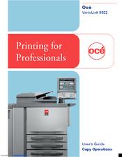 oce variolink 9522 manuals rh manualslib com Oce Imagistics Copiers oce 7055 copier service manual