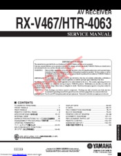 yamaha rx-v467 manuals