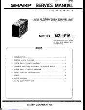 Sharp MZ-1F16 Service Manual