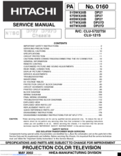 hitachi 51swx20b service manual pdf download rh manualslib com Hitachi Repair Manual Honeywell Pressuretrol Manual