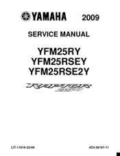 Yamaha 2009 raptor 250 manuals sciox Gallery