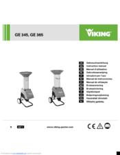 VIKING GE 345 INSTRUCTION MANUAL Pdf Download.