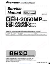 pioneer deh-2050mp/xn/es service manual pdf download | manualslib  manualslib