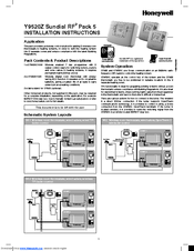 Honeywell DT92E Installation Instructions Manual