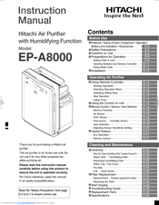 Hitachi EP-A8000 Instruction Manual