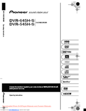 pioneer dvr 645h s operating instructions manual pdf download rh manualslib com 4 Channel DVR Manual Honeywell DVR Manual