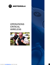 Motorola Operations Critical Wireless NNTN8127 Manual
