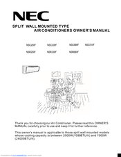 NEC NSR330F Owner's Manual