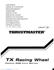 Thrustmaster Tx Racing Wheel Ferrari 458 Italia Edition Manuals
