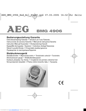 AEG BMG 4906 Operating Instructions Manual