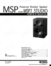 Yamaha MSP7 STUDIO Service Manual
