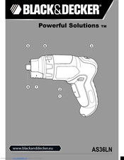 Black & Decker Powerful Solutions AS36LN Original Instructions Manual