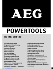 AEG BS 14C Original Instructions Manual