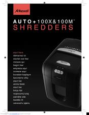 rexel auto 100x manuals rh manualslib com rexel 250 shredder service manual rexel shredder service manual