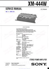 sony xm 444w manuals sony xplod 500w amplifier manual at Manual Sony Xplod Amp