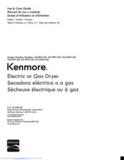 Kenmore 110.7913x410 series Use & Care Manual