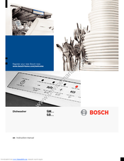 bosch smv53m40gb manuals rh manualslib com Bosch Dishwasher Parts Catalog Bosch Countertop Dishwasher