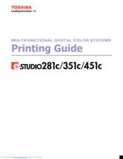 Toshiba E-STUDIO 451C Manuals