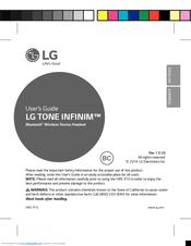 lg tone infinim hbs 910 user manual pdf download rh manualslib com lg bluetooth user manual hbs82 lg bluetooth headset hbs 750 user manual