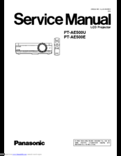 panasonic pt ae500e manuals rh manualslib com Panasonic Projection TV Manual Panasonic Overhead Projectors