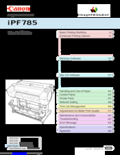 Canon image Prograf iPF785 Series User Manual