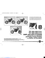 husqvarna 2006 te 450 manuals rh manualslib com husqvarna owners manual z246 husqvarna owners manuals free