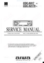 Aiwa CDC-X417 Manuals on