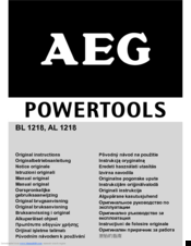 AEG al 1218 Original Instructions Manual