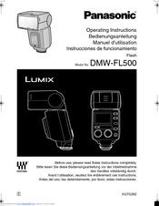 Panasonic FL500 - DMW - Hot-shoe clip-on Flash Operating Instructions Manual