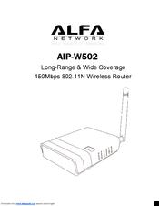 alfa network aip w502 manuals rh manualslib com New Alfa Romeo New Alfa Romeo