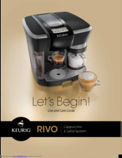 keurig rivo manuals rh manualslib com Keurig B155 Reusable K-Cups for Keurig Coffee Makers