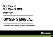 Kawasaki VULCAN S Manuals