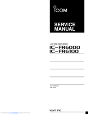 Icom IC-FR6100 Service Manual