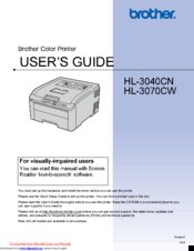 brother hl 3070cw manuals rh manualslib com brother hl-3070cw manuel brother hl-3070cw service manual