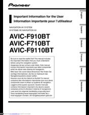 pioneer avic f9110bt manuals