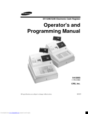 Samsung ER 5200 Operator's And Programming Manual