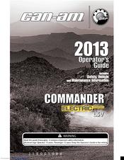 can am commander electric lsv manuals rh manualslib com 2009 can am spyder operator's manual can am defender operators manual
