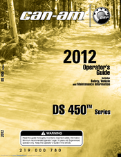 can am ds 450 series manuals rh manualslib com 2009 can am spyder operator's manual Owner's Manual