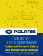 Polaris 120 XC SP Manuals on