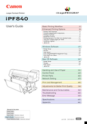 Canon imagePROGRAFi iPF840 series User Manual