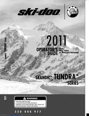 SKI-DOO TUNDRA SERIES OPERATOR'S MANUAL Pdf Download