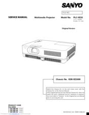 sanyo plc xe33 manuals rh manualslib com Sanyo Pro Xtrax Multiverse Sanyo plc XT16