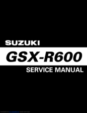 suzuki GSX-R600 Manual
