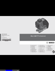 Bosch GLL 3-80 P Original Instructions Manual