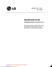 LG GC-309B Operation Manual