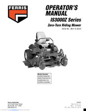 Ferris IS3000z Series Manuals