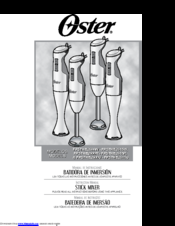 Oster FPSTHB2615W Instruction Manual