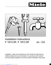 Miele F 1813 SF Installation Instructions Manual