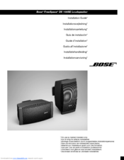 bose freespace ds 100se manuals rh manualslib com bose 123 manual pdf bose 123 owner's manual