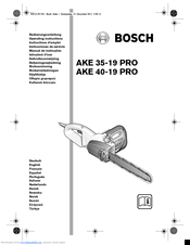 Bosch AKE 35-19 PRO Operating Instructions Manual